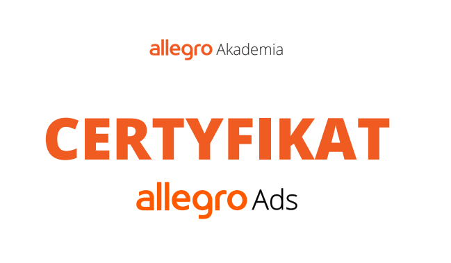 Allegro akademia certygikat allegro ads