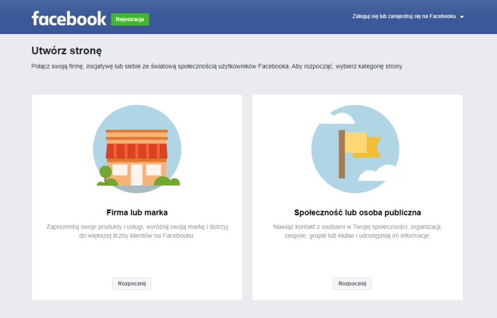 Tworzenie strony firmowej / fanpage naFacebook